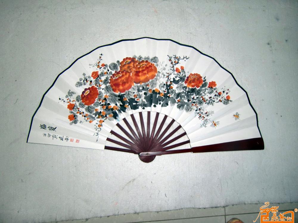 名家 黄建南 油画 - 黄建南手绘扇子4